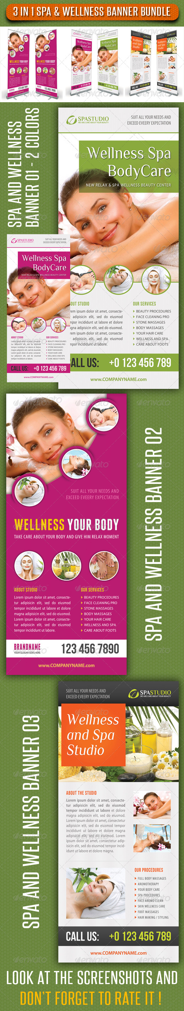 GraphicRiver 3 in 1 Spa Wellness Banner Bundle 04 7351730