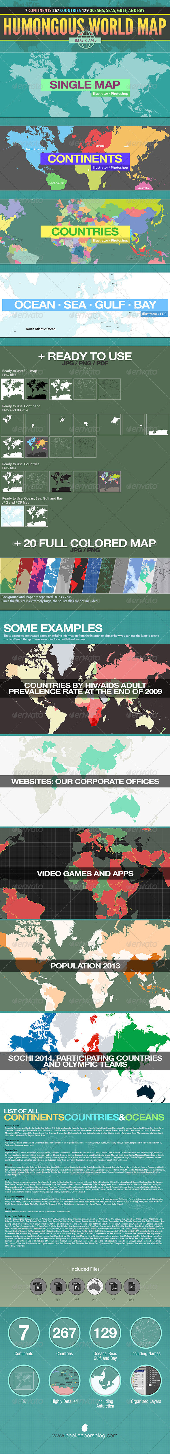 GraphicRiver Humongous World Map 7351762