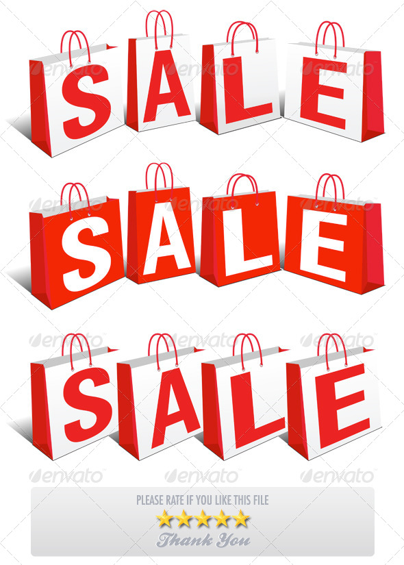 GraphicRiver 3 Sale Banner Shopping Bags 7351766