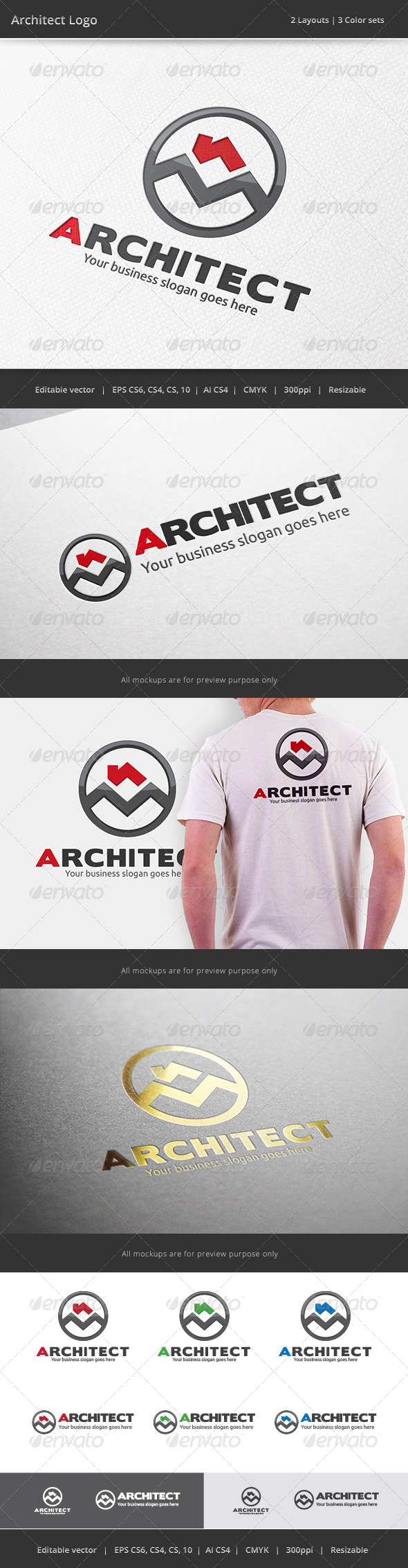 GraphicRiver Architect House Logo 7351768