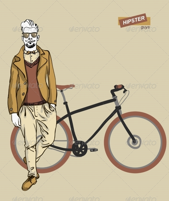 GraphicRiver Young Man with Bike 7351969