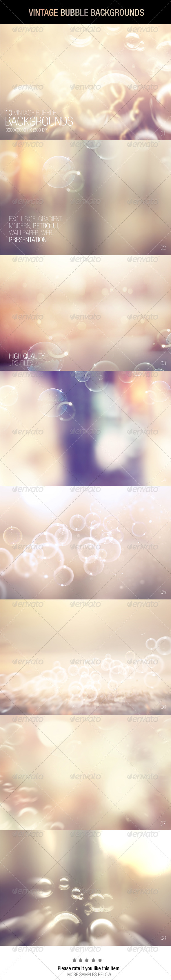GraphicRiver Vintage Bubble Backgrounds 7351992