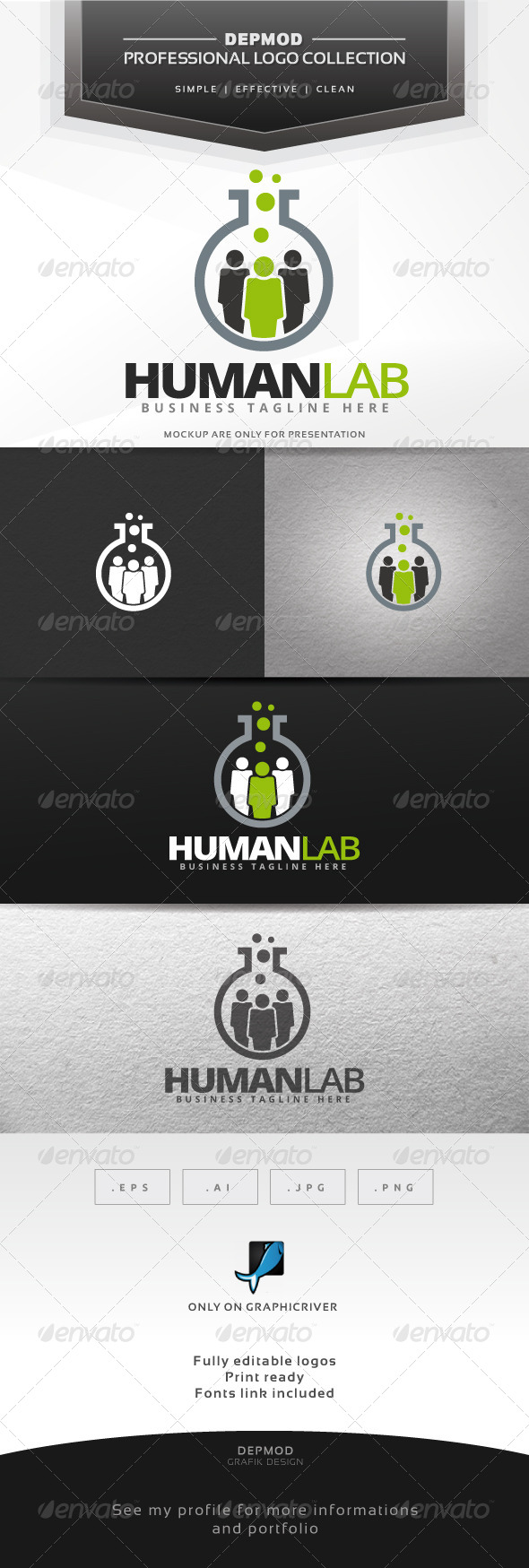 GraphicRiver Human Lab Logo 7352033