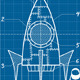 Rocket Blueprint Cartoon - GraphicRiver Item for Sale