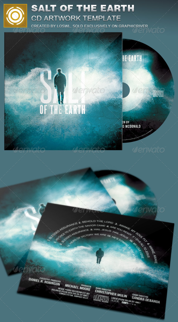 GraphicRiver Salt of the Earth CD Artwork Template 7352340