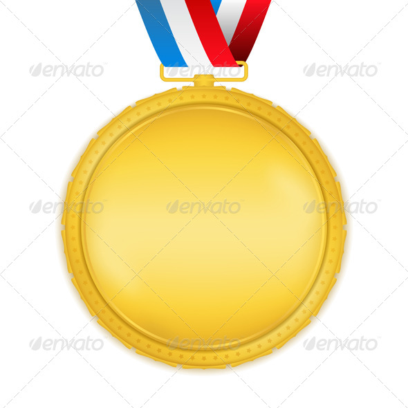 GraphicRiver Golden Medal with Ribbon 7352717