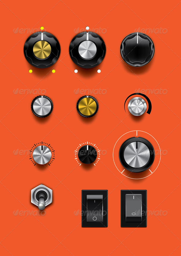 GraphicRiver Control Knobs 7301230