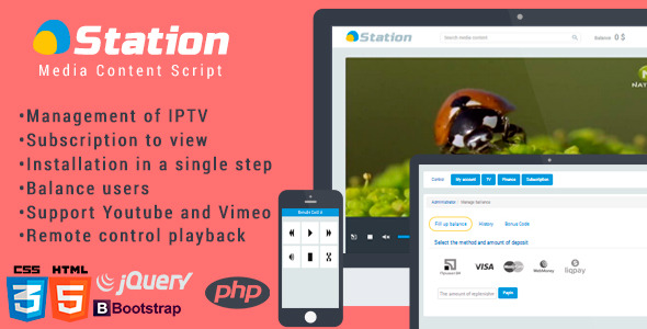 CodeCanyon hStation Media Script 7246694