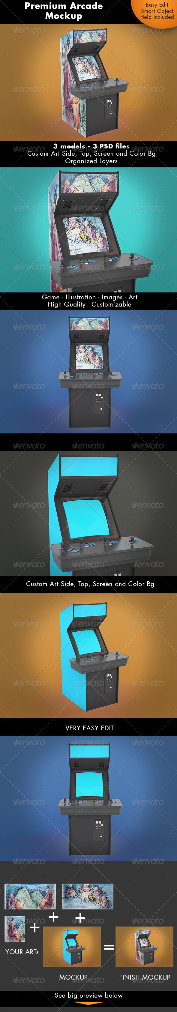 GraphicRiver Arcade Game Mockup 7352982