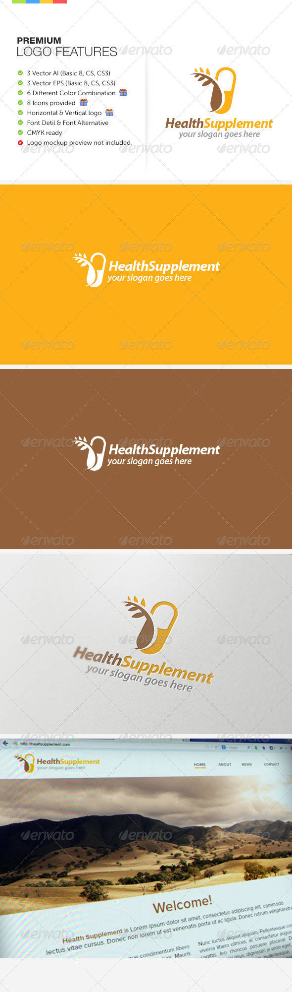 GraphicRiver Natural Health Suplement Logo 7352985