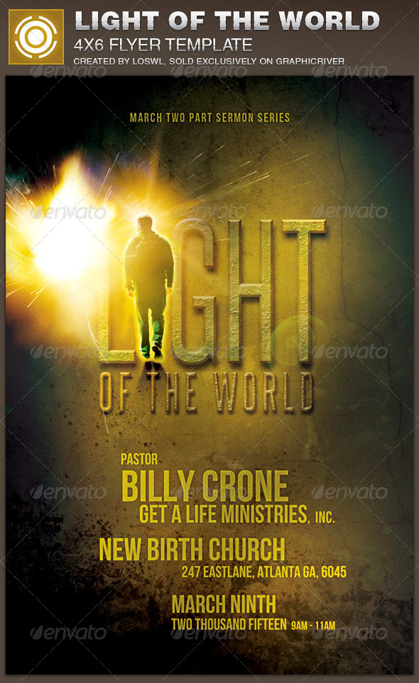 GraphicRiver Light of the World Church Flyer Template 7353025