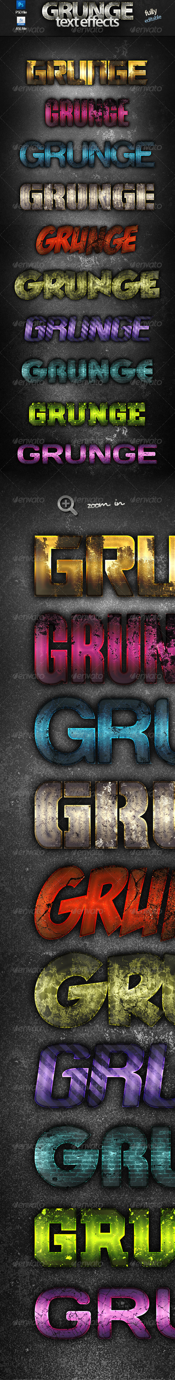 GraphicRiver Grunge Text Effects 7353116