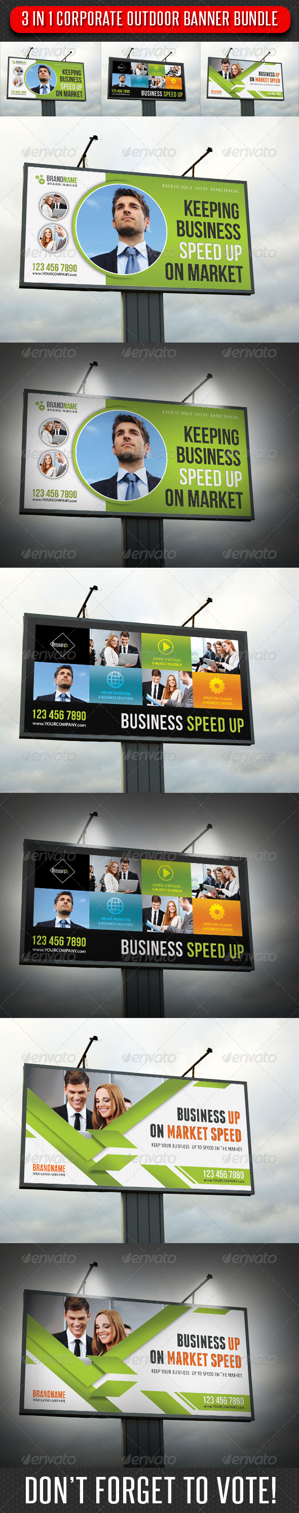 GraphicRiver 3 in 1 Corporate Outdoor Banner Bundle 08 7353253