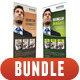 3 in 1 Corporate Rollup Banner Bunle 10 - GraphicRiver Item for Sale