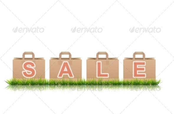 GraphicRiver Shopping Bags With SALE Letters 7353388