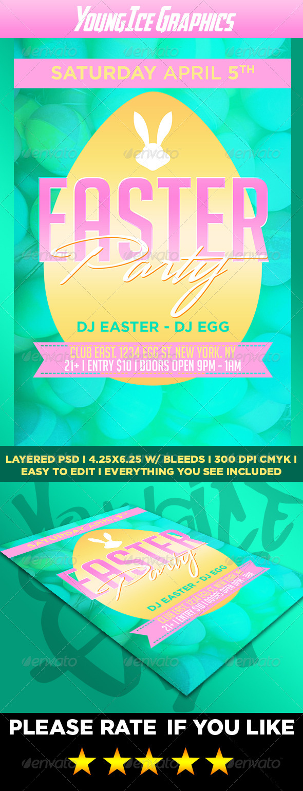 GraphicRiver Easter Party Flyer 7353404