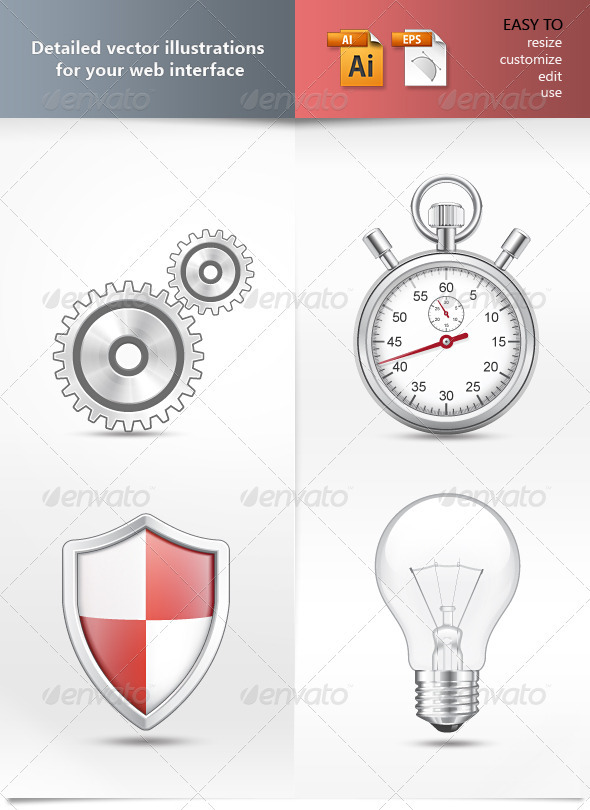 Graphic River Detailed vector illustrations Vectors -  Objects  Man-made objects 761440