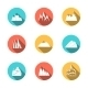 Snowy Mountains Icons Set - GraphicRiver Item for Sale