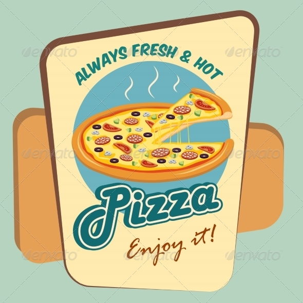 GraphicRiver Pizza Advertising Poster 7354126