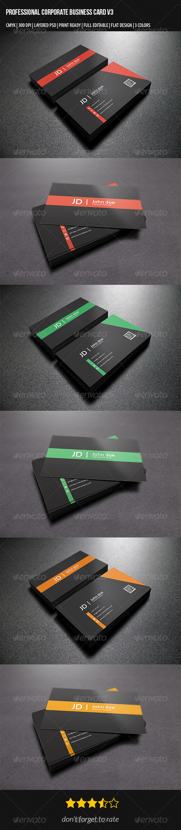 GraphicRiver Professional Corporate Business Card V3 7354134