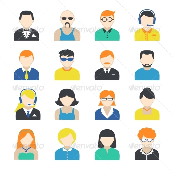 GraphicRiver Avatar Character Icons Set 7354135