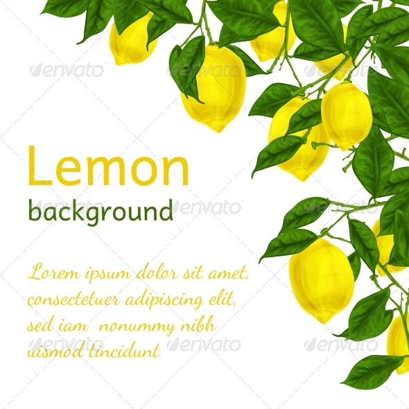 GraphicRiver Lemon Background Poster 7354151