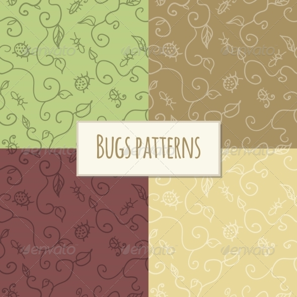 GraphicRiver Seamless Bugs Pattern 7354153