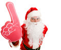 Sports Fan Santa with Foam Finger - PhotoDune Item for Sale