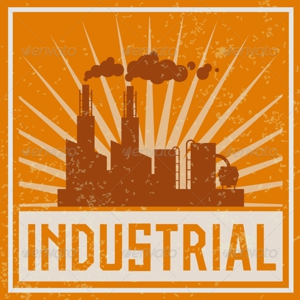 GraphicRiver Construction Industrial Building Icon 7354191
