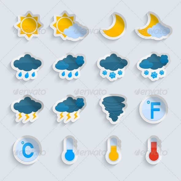 GraphicRiver Weather Forecast Paper Set 7354228