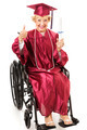 Senior Graduate in Wheelchair - Thumbs Up - PhotoDune Item for Sale