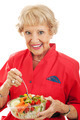 Senior Woman Eats Salad - PhotoDune Item for Sale