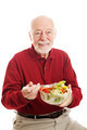 Healthy Senior Man Eating Salad - PhotoDune Item for Sale