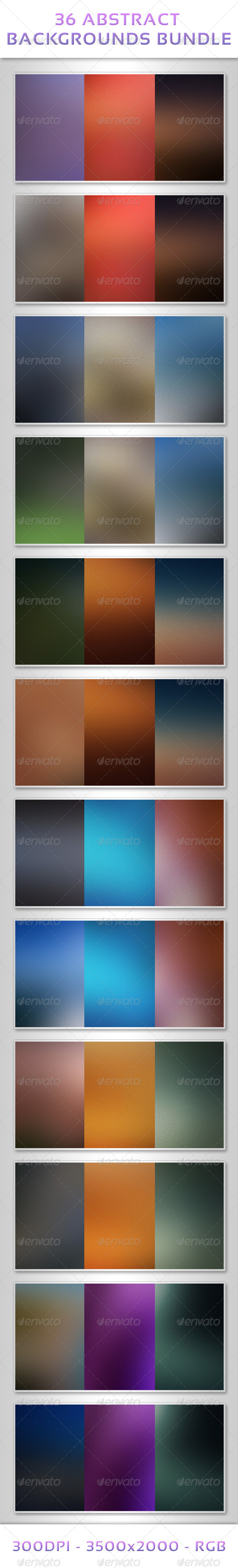 GraphicRiver 36 Abstract Backgrounds Bundle 7342842