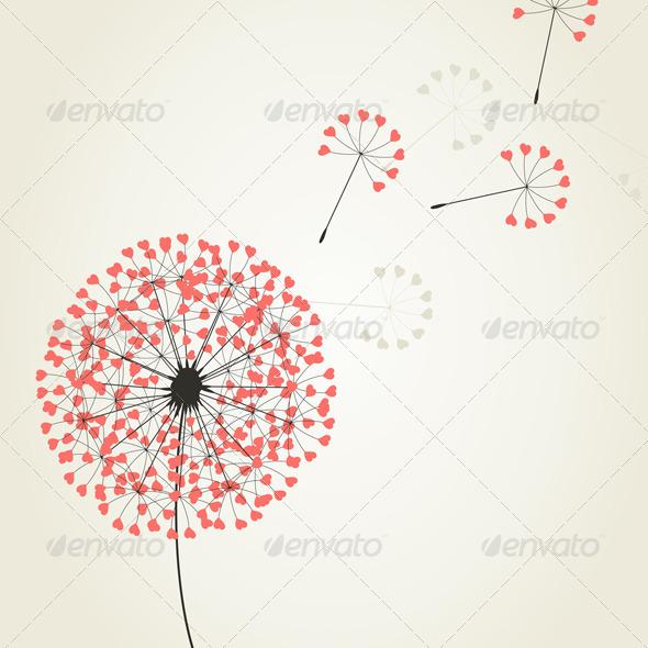 Graphic River Love dandelion2 Vectors -  Conceptual  Nature  Flowers & Plants 761715