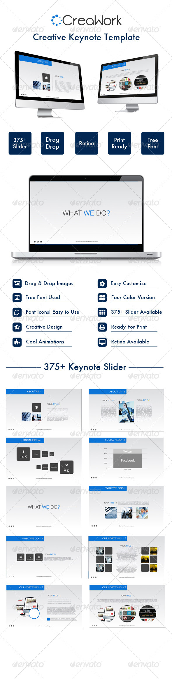 GraphicRiver Creawork Keynote Template 7354645