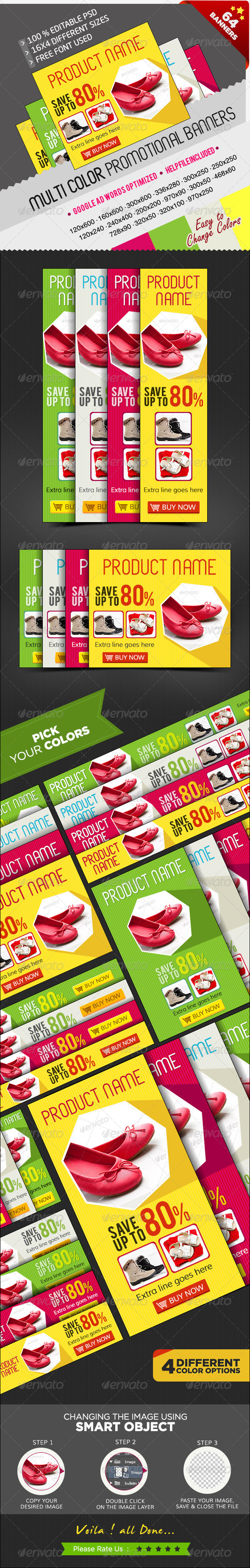GraphicRiver Promotional Banners in Multi Colours 64 PSDs 7354648