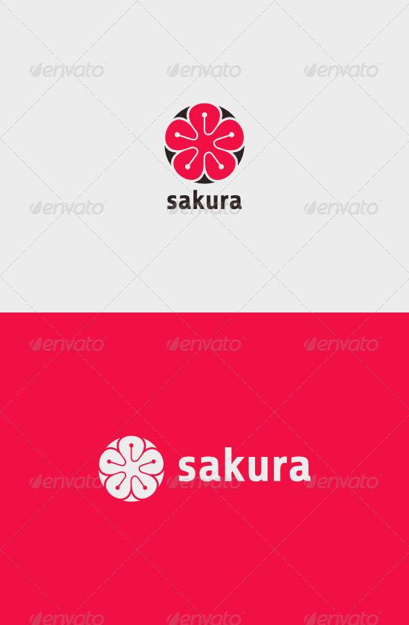 GraphicRiver Sakura Tech Logo 7354696