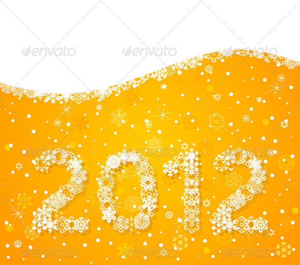 Graphic River Winter background8 Vectors -  Conceptual  Seasons/Holidays  New Year 761747