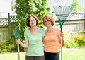 Women with rakes in garden - PhotoDune Item for Sale