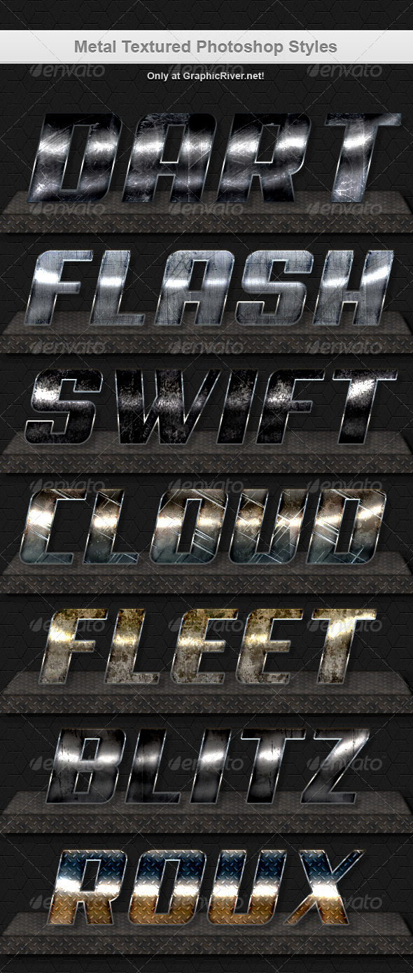 GraphicRiver Metal Texture Style 7354903