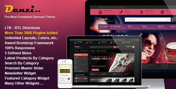ThemeForest Denzi Premium Opencart Theme 7355506
