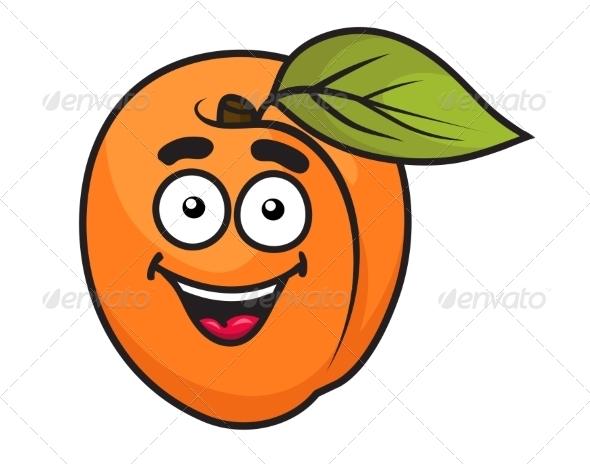 GraphicRiver Colorful Orange Apricot Fruit 7355508