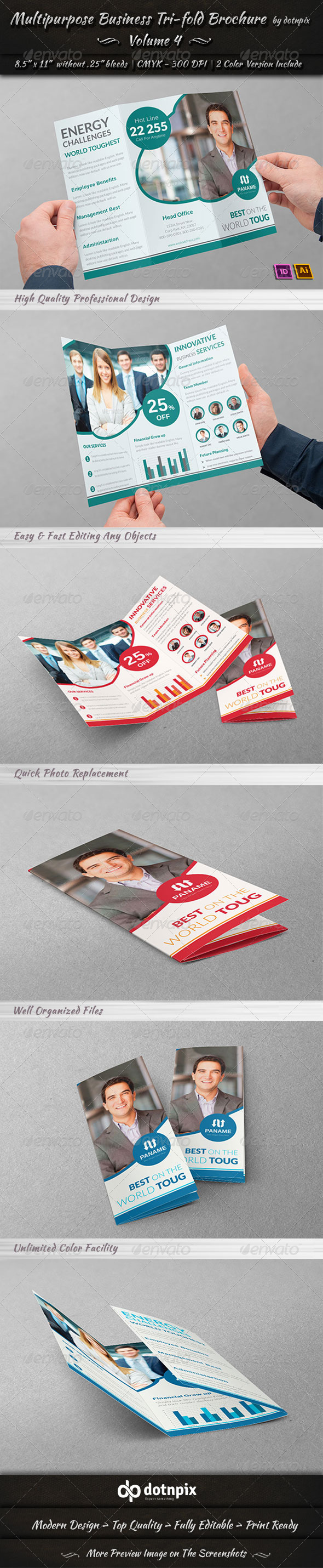 GraphicRiver Multipurpose Business Tri-Fold Brochure Volume 4 7348149