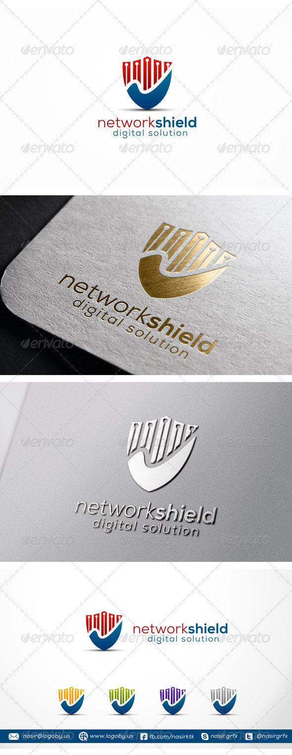 GraphicRiver Security Shield Logo 7356501