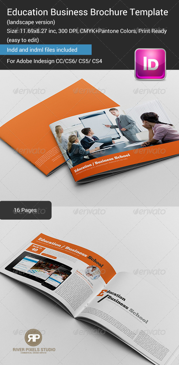 GraphicRiver Education Business Brochure Template 7214638