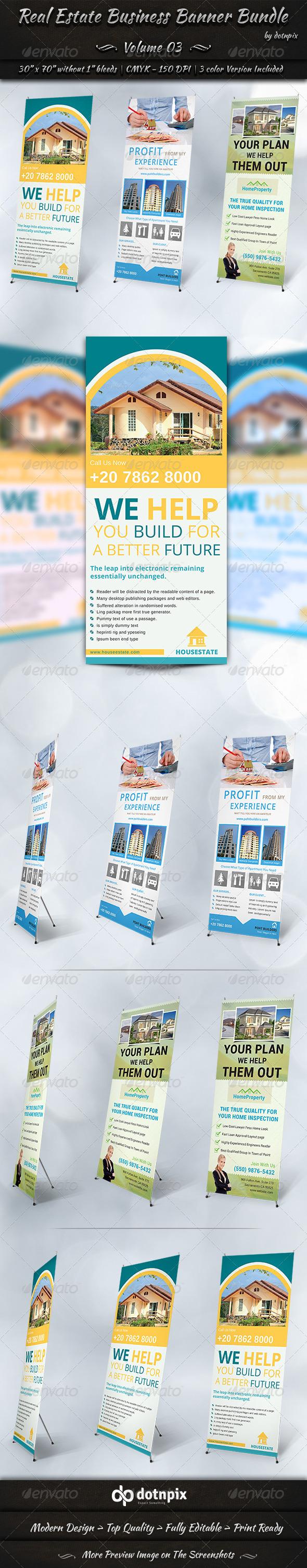 GraphicRiver Real Estate Business Banner Bundle Volume 3 7356933