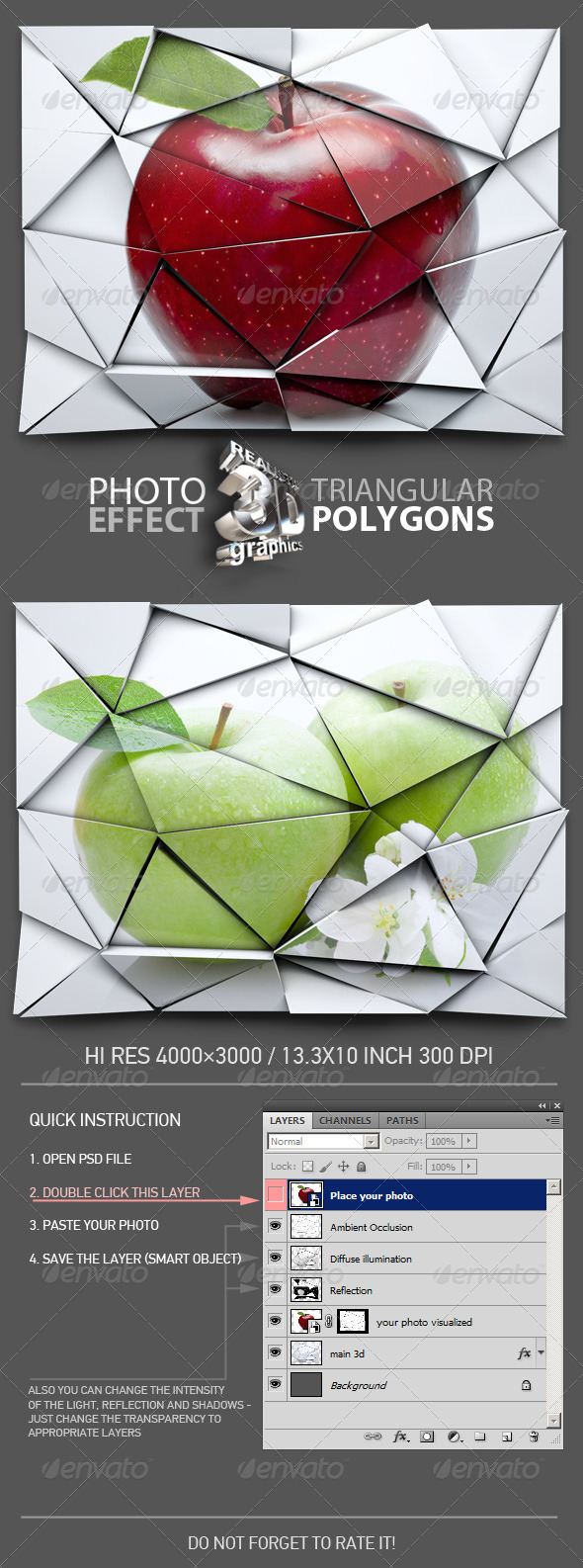 GraphicRiver Photo 3D Polygon Effect 7356995
