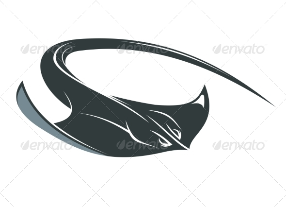 GraphicRiver Swimming Manta or Sting Ray 7357356