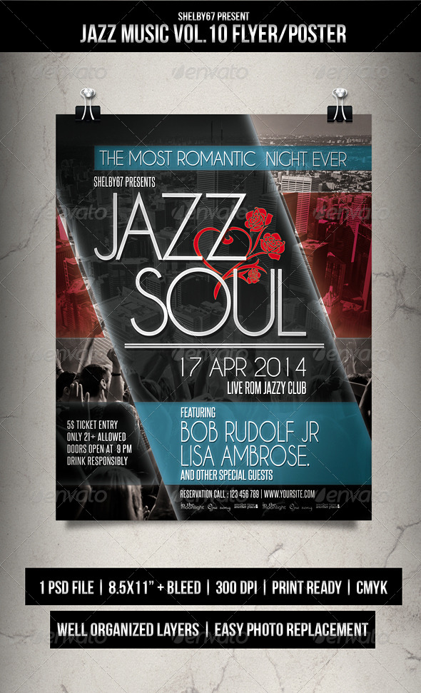 GraphicRiver Jazz Music Flyer Poster Vol.10 7357578